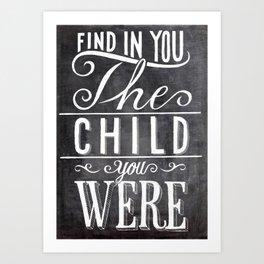 find in you Art Print