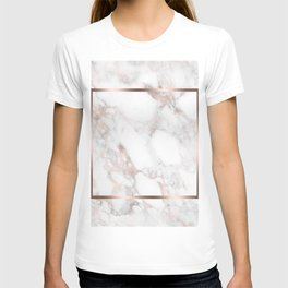 Luxury Rose-gold Faux Marble T-shirt