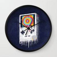 gaming Wall Clocks featuring Gaming by Ronan Lynam
