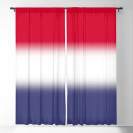 Red White and Blue Gradient Ombré Blackout Curtain