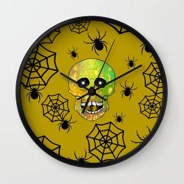 Spider Skull Wall Clock