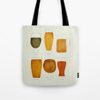 beer Tote Bags featuring Beer by Cat Coquillette