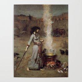 The Magic Circle, John William Waterhouse. Poster