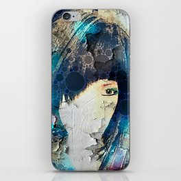 I'm with Wig Blue iPhone Skin