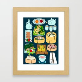 Dim Sum Lunch Framed Art Print