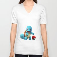 squirtle V-neck T-shirts featuring Squirtle 2 by Yamilett Pimentel