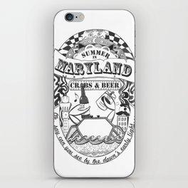 Maryland Crabs & Beer iPhone Skin