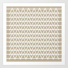 Grey & White pattern Art Print