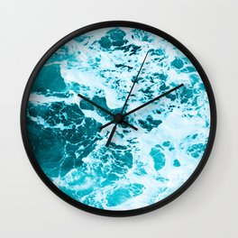 Deep Turquoise Sea - Nature Photography Wall Clock