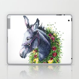 Donkey watercolor Laptop & iPad Skin