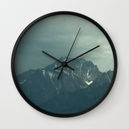 Stormy Mountains (Sierra Nevadas, California) Wall Clock