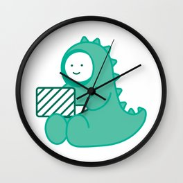 little dinosaur Wall Clock