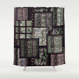 Bohemian Combo Boysenberry Shower Curtain