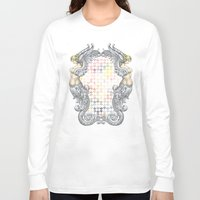 angels Long Sleeve T-shirts featuring Angels by FakeFred