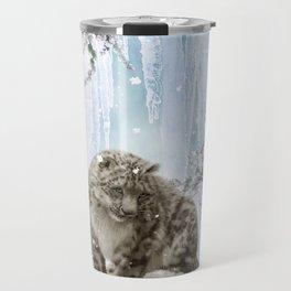 Wonderful snowleopard Travel Mug