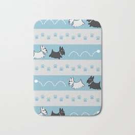 Scotties Pattern Bath Mat
