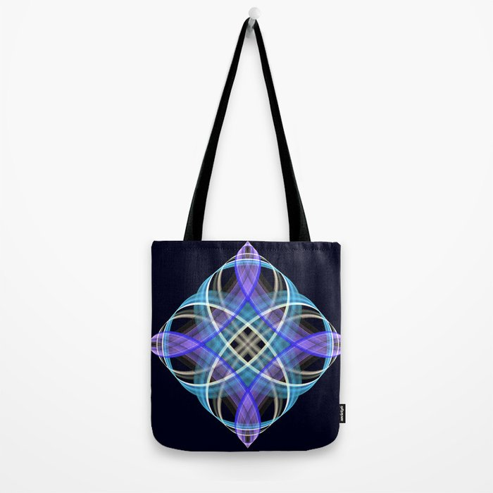 Four points geometric pattern design Tote Bag