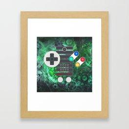 Classic Steampunk Game Controller Framed Art Print