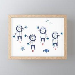 Semaphore LOVE Framed Mini Art Print