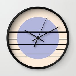 Private Moon - Blue Wall Clock