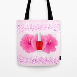 Pink floral makeup Tote Bag