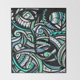 Tribal Weave of Waves  Throw Blanket