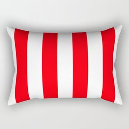 Wide Red and White Christmas Cabana Stripes Rectangular Pillow