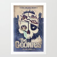 goonies Art Prints featuring Goonies by Jared Andolsek