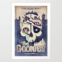 the goonies Art Prints featuring Goonies by Jared Andolsek