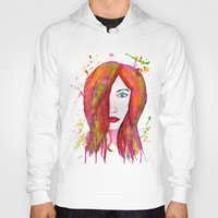 valentina Hoodies featuring Valentina by Laurie Art Gallery