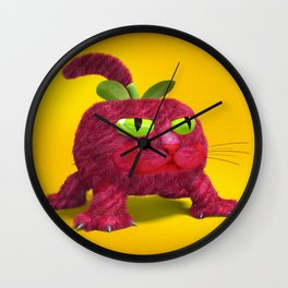 Pink Tomate Wall Clock