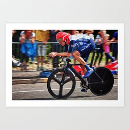 Bradley Wiggins On His Way To Gold - London 2012 Art Print