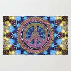Groovy Hippie Love Mandala Rug