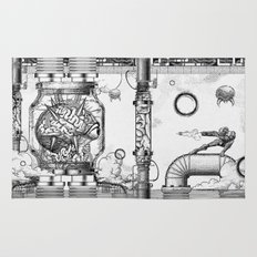 Mother Brain Super Metroid Engraving Scene Rug