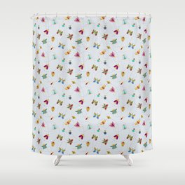 Bugs n butterflies Shower Curtain