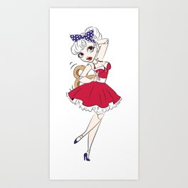 Dancing Doll Art Print