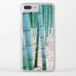 The Bamboo Grove, Arashiyama, Kyoto Clear iPhone Case