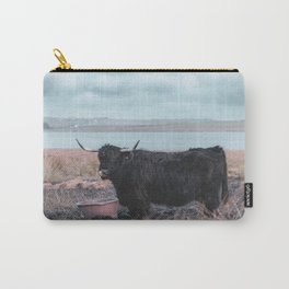 Vintage photography - Highland Cow, Thurso, Scotland Carry-All Pouch