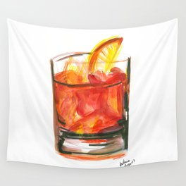 Negroni Cocktail Hour Wall Tapestry