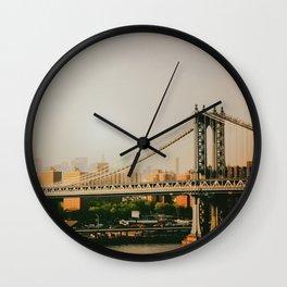 New York City Sunset Wall Clock