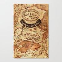 marauders Canvas Prints featuring Marauders Map by Dasha Borisenko