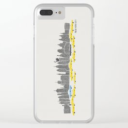 New York City Panoramic Clear iPhone Case