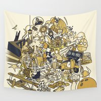 movies Wall Tapestries featuring Movies Explosion by zaMp