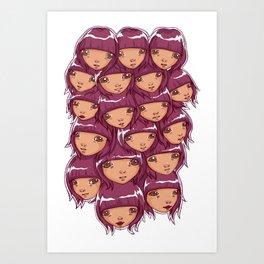 through the grape vine Art Print