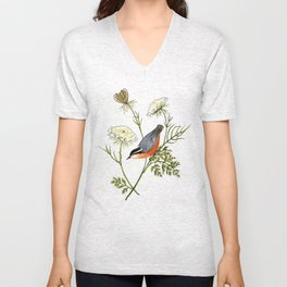 Nuthatch and Carrot Unisex V-Neck