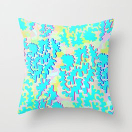 Candy Coral Throw Pillow