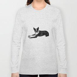 Fetch Boston Terrier B/W Long Sleeve T-shirt