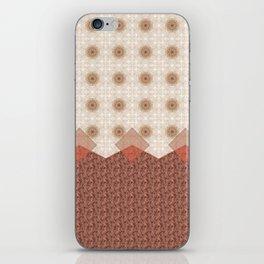 Terracotta Diamond Mandala and Graphic Weave Tile iPhone Skin
