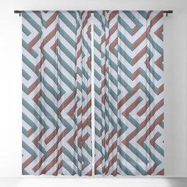 Blue Maze Sheer Curtain