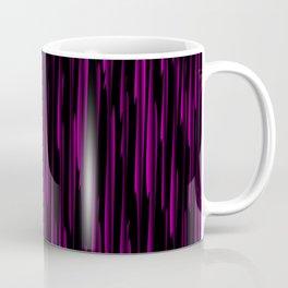 Vertical cross pink lines on a dark tree. Coffee Mug